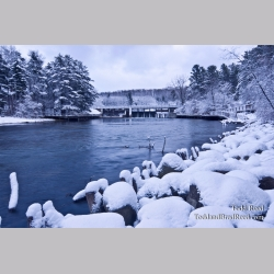 Winter at Hamlin Dam