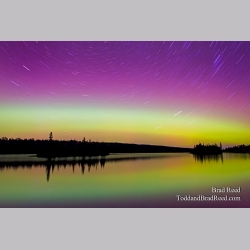 Northern Lights Over Isle Royale