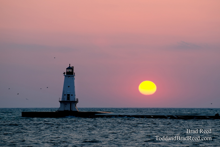 A Spring Sunset in Ludington