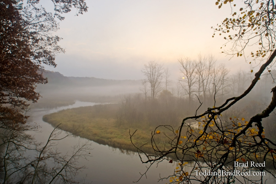 Foggy Sunrise on the Pere Marquette