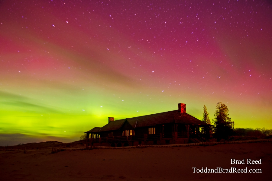 Northern Lights Over the Beach House