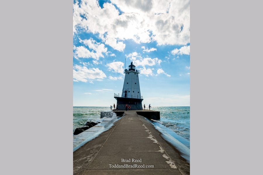 Ludington Lighthouse During Workshop (0507)