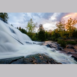 Bond Falls at Sunset (1180)