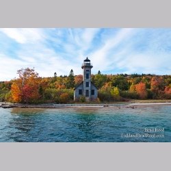 Grand Island Light at Gerlach Workshop in Munising (3784)