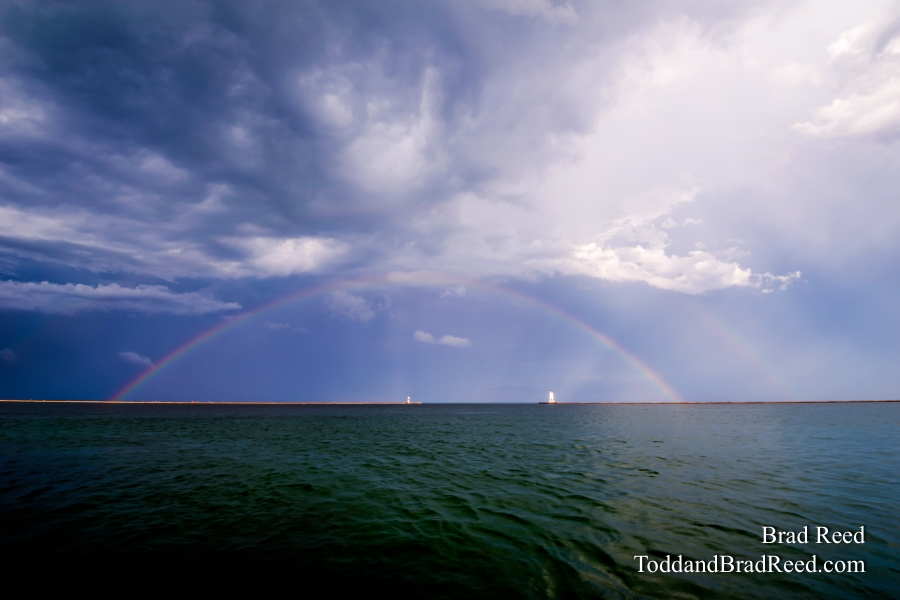 Rainbow Over Ludington Lighthouse (3881)