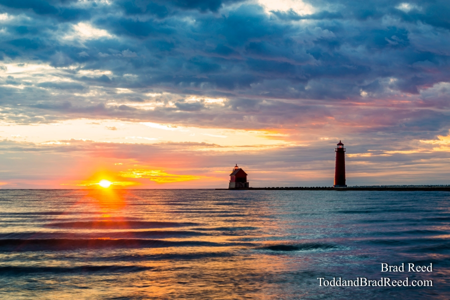 Sunset at Grand Haven Lighthouse (5869)