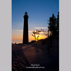 Sunset at Little Sable Point Lighthouse (6984)