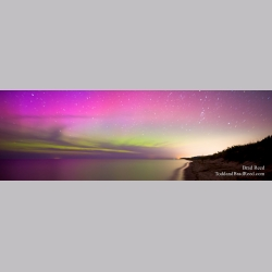 Hamlin Lake Workshop and Northern Lights Panoramic (7510)