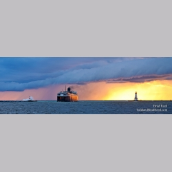 Heading Into The Storm - Panoramic