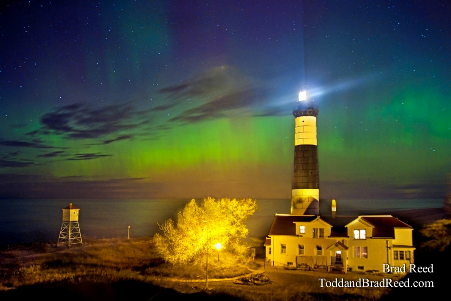 Northern Lights At Big Sable Point