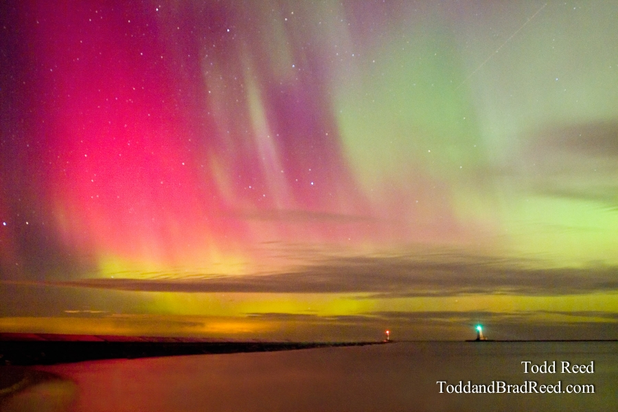 Northern Lights Over Ludington