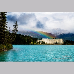Rainbow Over Lake Louise