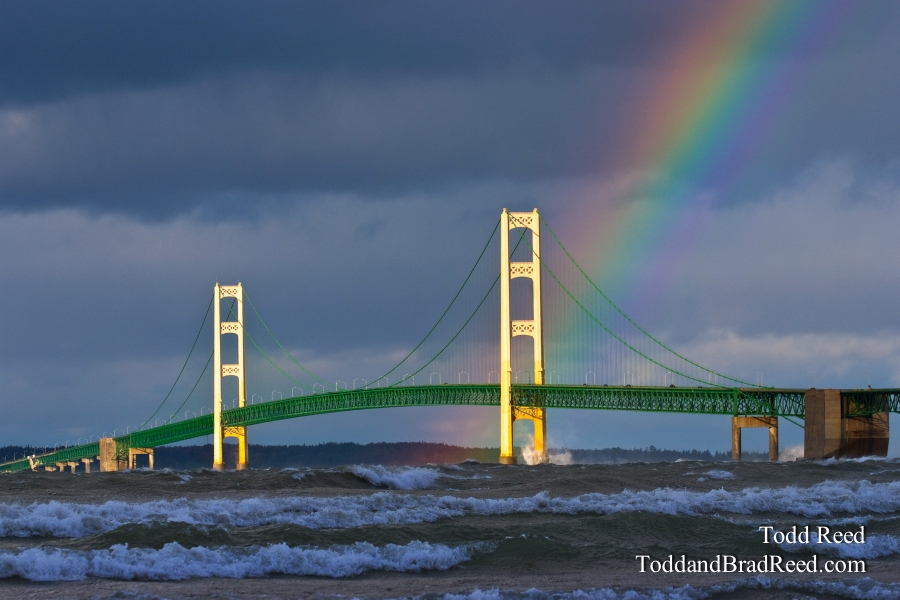 Mackinac Bridge Rainbow (8597)